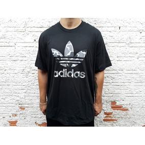 6f6eb30c64a40 Camiseta adidas Originals Trefoil Camo Camuflado Original