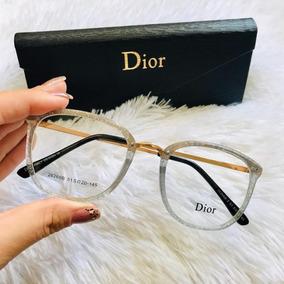 9934b4b65d7bb Oculos Retro Grau Transparente - Óculos Branco no Mercado Livre Brasil