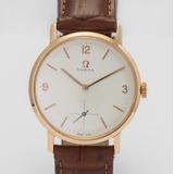 6f9091fc2f1 Relógio Omega Antigo Ouro Rose 18k Anos 70 Pulseira De Couro