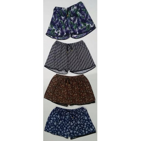 Kit 5 Shorts Feminino Plus Size Estampado Roupa Verão Barato