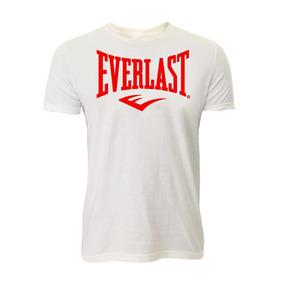Camiseta Algodão Básica Branca Logo Vermelho G Everlast 6e1039fd4df4e