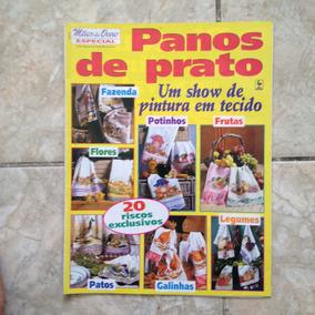 Revista Mãos De Ouro Especial Panos De Prato Pintura Tecido