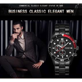 Relógio Masculino Curren 8028 Elegante Preto Relógio De Aço