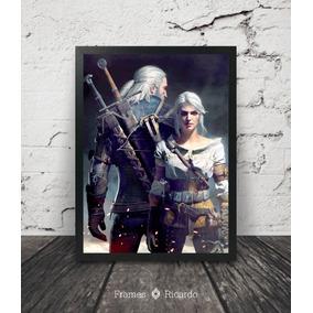 Quadro The Witcher (geralt E Ciri)