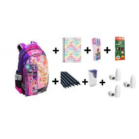 Kit Escolar Volta As Aulas Com 18 Pçs Bolsa Com Microfone