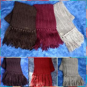 Bufanda Hombre Tejida Al Crochet - Ropa y Accesorios en Mercado ... 56ab390d9e3