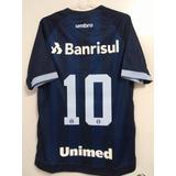 Camisa Gremio Oficial Uniforme 3 Umbro 2017 2018 N° 10 Azul 88c8753294b4f