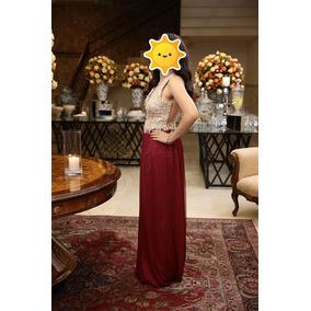 Vestido Sori Longo De Festa Bordado Com Pérolas
