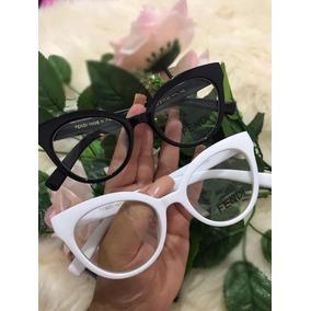Armação De Grau  óculos Fendi Modelo Gatinho Branco Ou Preto. R  120. 12x R   11. Frete grátis d3b18dca94