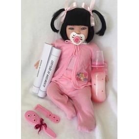 Boneca Bebe De Verdade Real Reborn 53cm Barata - 16 Itens