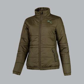 Chamarra Puma Ess Padded Jacket 185742 Verde Mujer Invierno