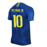 83ca187843 Camisa Seleção Brasil Azul Copa Do Mundo Neymar Jr Nº 10 - Camisas ...