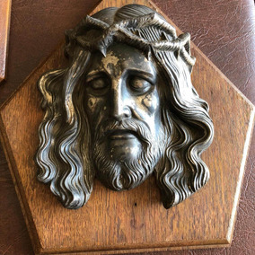 Arte Sacra Antigo Quadro Busto Rosto De Jesus Cristo