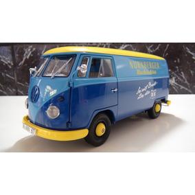 Vw Kombi T1 Transporte Marca Schuco Azul/amarelo Esc 1:18