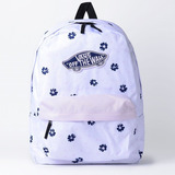 889712c82a847 Mochila Vans Branca Realm Backpack White Abstract Orignal Nf