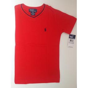 Camiseta Gola V Ralph Lauren - Calçados 82279c59b5f