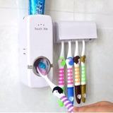 Kit Com 10 Dispenser Automático De Creme Dental Pasta