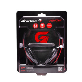 Fone Headset Gamer Spider Venom Fortrek Microfone Shs701