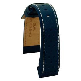 Bomberg Correa Piel Azul 1968 De 39mm Sin Hebilla Diego Vez