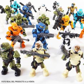 Lote De 5 Figuras Halo Mega Construx Sorpresa Loose