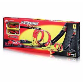 Burago .ferrari Race And Play. Pista Con Replicas 1/43 Nuevo
