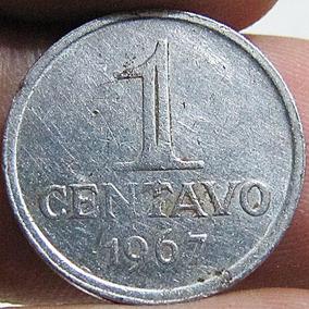 Moeda Antiga 1 Centavo 1969 Brasil