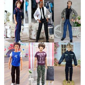 1 Roupa Fashion Para Boneco Ken ( Barbie ) + Sapatos