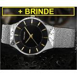 825b7ede68a Relógio Feminino Readeel Ultra Fino + Brinde-promoção