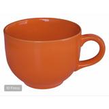 Tazas Grandes Color Naranja Cerámica 740 Ml