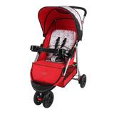 Carrinho Triciclo De Bebê Berço E Passeio Vermelho Junne