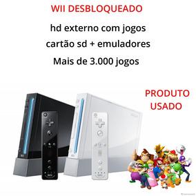 Nintendo Wii Desbloqueado + Hd + 3000 Jogos + Cartão Sd