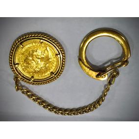 Chaveiro Moeda Em Ouro 23k900 E 18k-750