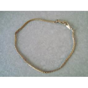 aa3dc405007a Esclava Pulsera Chapa De Oro 20cm   Changoosx