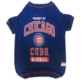Mlb Chicago Cubs Dog T-shirt, Large. - Licensed Shirt For Pe