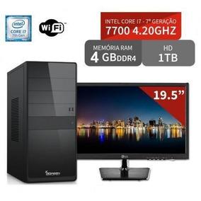 Computador Intel Core I7 7700 4.20 (7 Geração) Monitor 19,5