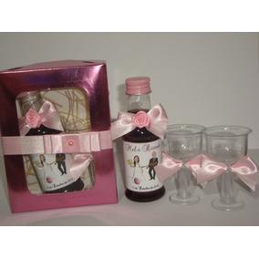 14mini Vinhos Personalizados+caixinha+ 2 Taça+decoração+tags