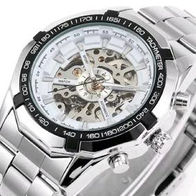 Relógio Winner Altomatico Original Prata Com Caixinha