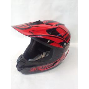 Capacete Motocross Asw Factory - Vermelho - C/ Inmetro + Nf