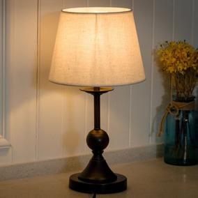 10 Dormitorio Vintage Bronce Brillante Mesita W/led...