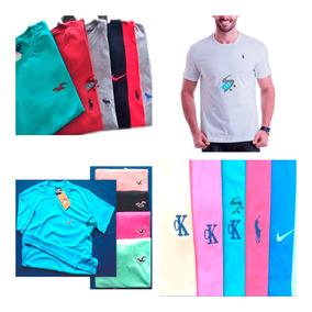 Kit 20 Camisa Camiseta Masculina Marca Logo Bordado Revenda 0579ebb0e1eee
