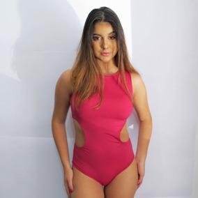 Body Maiô Engana Mamãe Inteiro Com Bojo Rosa Romã
