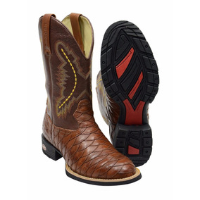 Bota Texana Country Botina Masculina Bico Quadrado