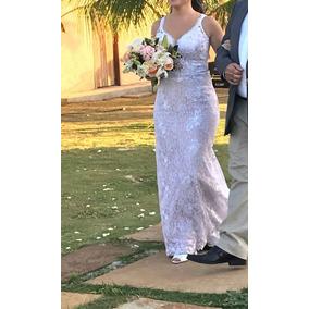Vestido De Noiva Semi Sereia Praia Campo