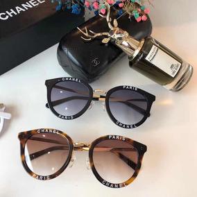 968ad5a8b02e9 Óculos De Sol Chanel Redondo Ch 3652 Feminino Com Case