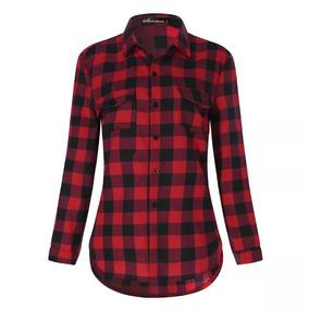 3ad2b3850a Camisas Xadrez Feminina Tamanho P - Camisa Casual Manga Longa ...