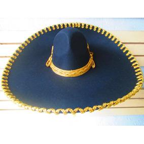 Sombrero Charro Negro Plata Hueso Oro Adulto Mariachi 36881e0afbbf