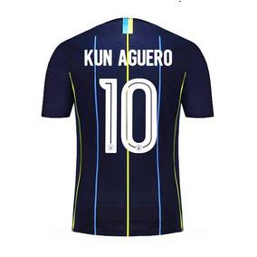 Camiseta Manchester City Titular 2018/2019 Aguero Original