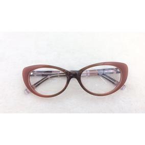 Armação Óculos Grau Feminino Discreta Grande Oferta A026 58848e7d94
