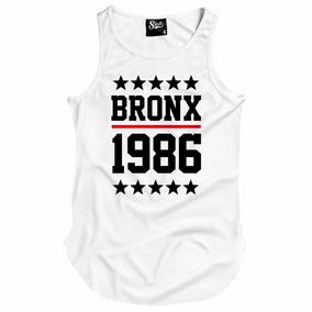 Camiseta Regata Masculina Longline Skull Bronx 1986 Gangster e92b7afcc22