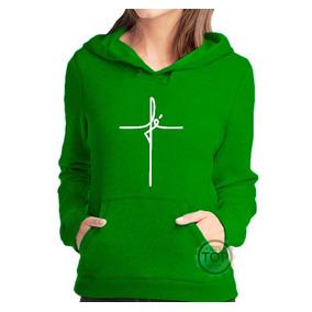 11bb5f1af Blusa Moletom Cruz Da Fé Religioso Moleton De Frio Feminino